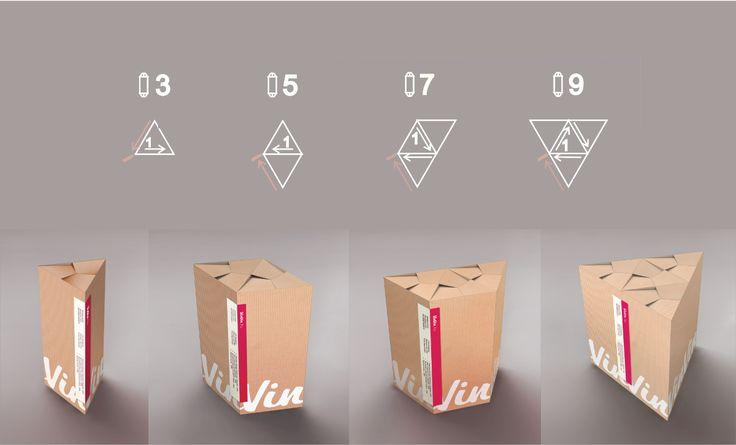 Венгерские дизайнеры во главе с Gabor Balint разработали оригинальную конструкцию упаковки, она может изменяться в зависимости от количества доставляемых бутылок, для вина бренда VinVin и создали дизайн ее оформления. Упаковка изготовлена из картона, это коробки, но не обычной квадратной формы, а треугольной. Для упаковки одной бутылки коробка собирается и фиксируется по длинной стороне специальной наклейкой, содержащей информацию о содержимом коробки и т.п. Если требуется доставить более…