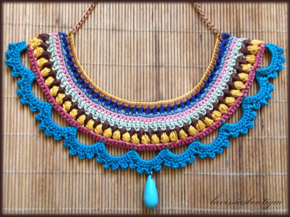 Handmade Crochet Necklace Statement Necklace by laviniasboutique, €32.00