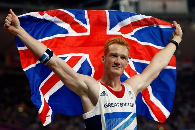 Greg Rutherford wins the long jump at home.