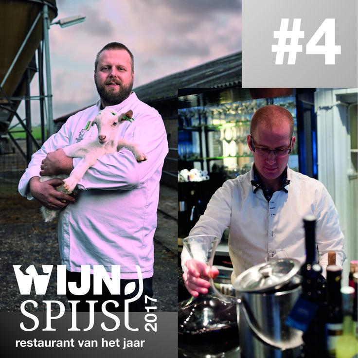 WijnSpijs Restaurant van het Jaar 2017 Top 10  Op no. 4 Eindeloos in Leeuwarden