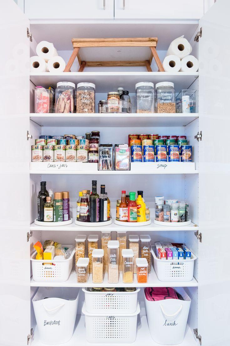 Pantry Organizedpantry Foodstorage Storagesolutions Organizingtips Thehomeedit Diy Pantry Organization Deep Pantry Organization Pantry Organisation