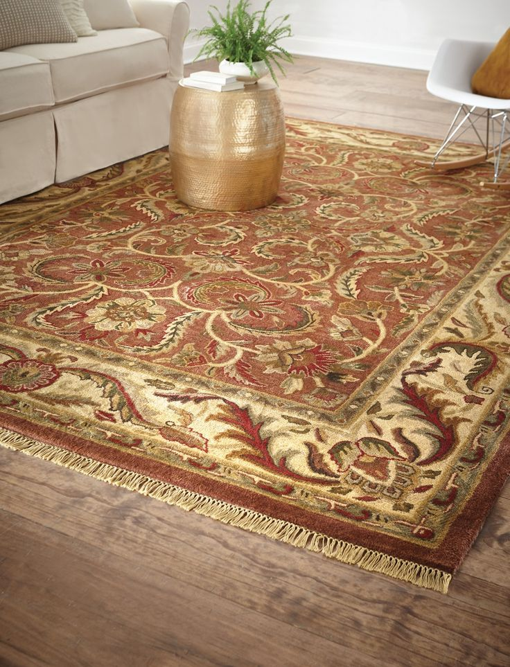 this traditional rug is hand tufted of a new zealand wool blend and features a - Home Decorators Rugs