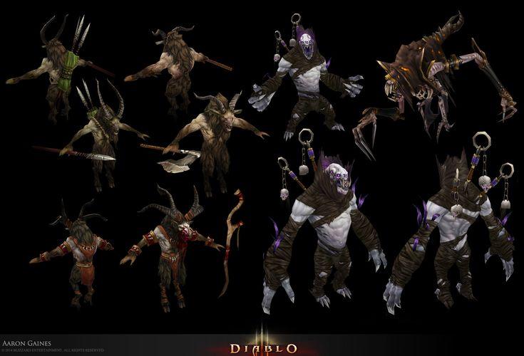 ArtStation - D3 Monsters, Aaron Gaines Diablo