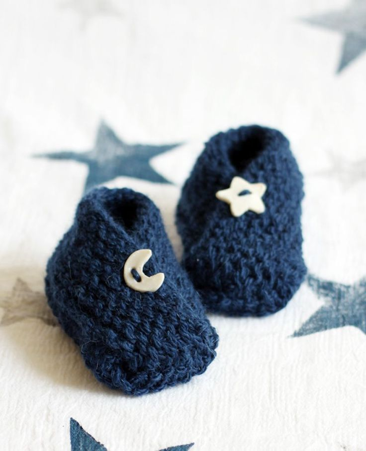 Bitty Baby Booties - free knitting pattern