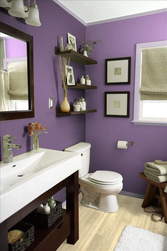 Better Homes and Gardens - My Color Finder (colors: Cupid's Dart main, African Violet trim for guest bath)