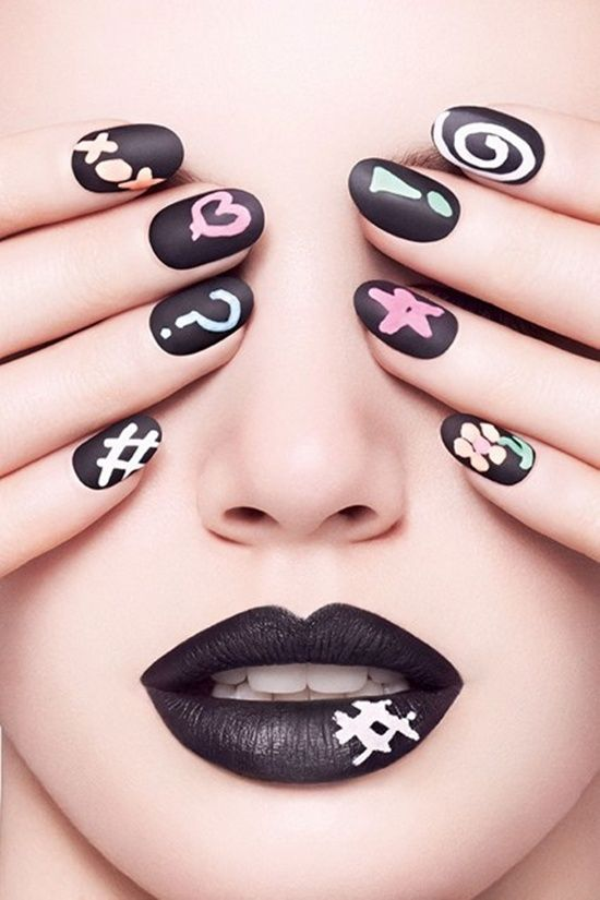 30 Cool Matte Nail Art Designs