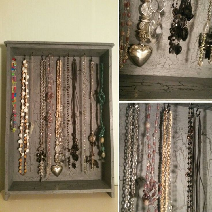 My jewelry storage with beautiful crackles ❤