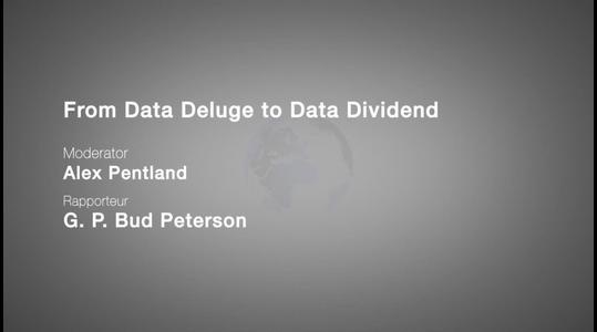 From Data Deluge to Data Dividend  World Economic Forum 2013