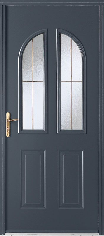 140 best portes entree images on pinterest doors driveway gate and granada for Porte entree pvc gris anthracite