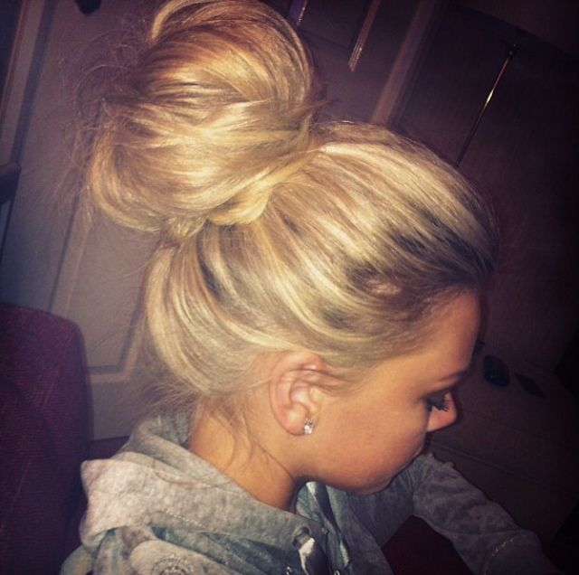 Just need my hair to grow a foot and maybe i can conquer this sassy comfy bun!