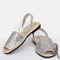 Mallorquinas Glitter Plata