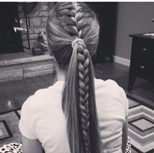 French braid/ponytail