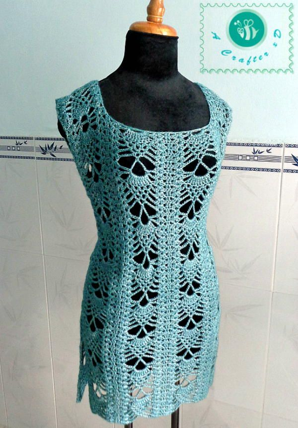 Pineapple Crochet Tunic | AllFreeCrochet.com