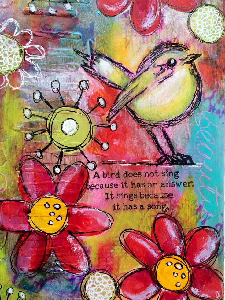 DT post for 'a sprinkle of imagination ' art journal page | by Tr4cy1973