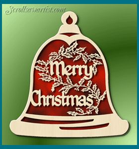 Free Scroll Saw Patterns :: Merry Christmas bell -