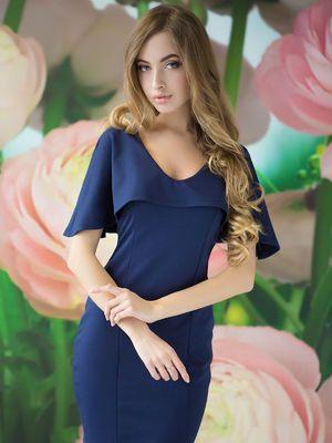 Платье темно-синее - Lux-look - 2495739