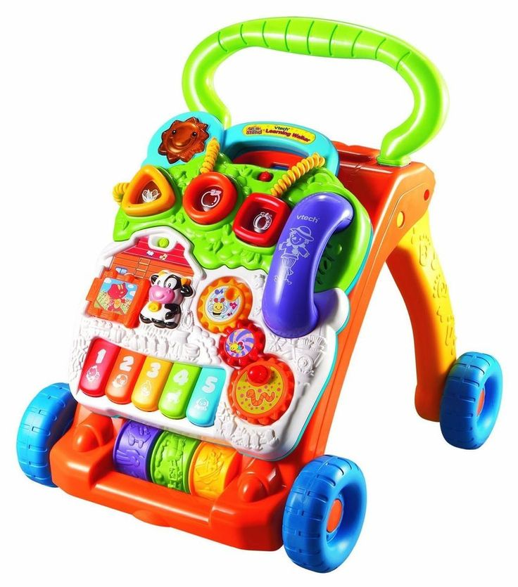 Sit-to-Stand Learning Walker with Removable Toddler Play Panel & Music VTech New #VTech