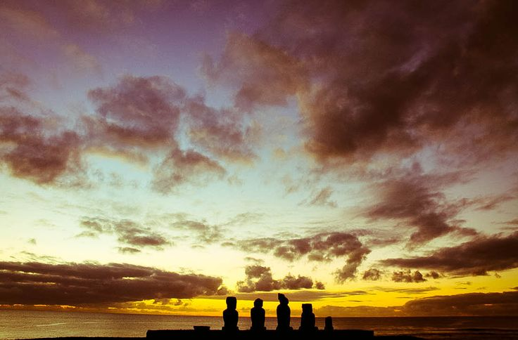 Sunset At Easter Island: Ahu Tahai