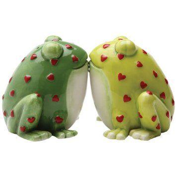 Horny Toads Frog Salt and Pepper Shaker Set