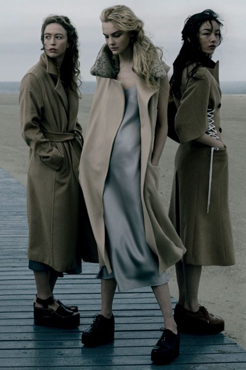"""labsinthe:  """"Playing It Cool"""" Raquel Zimmermann, Caroline Trentini & Fei Fei Sun photographed by Annie Leibovitz for Vogue US 2014"""