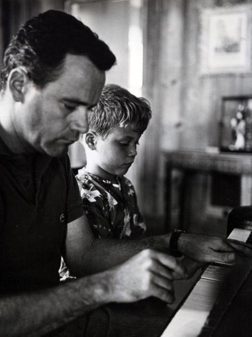 Jack Lemmon and son Chris