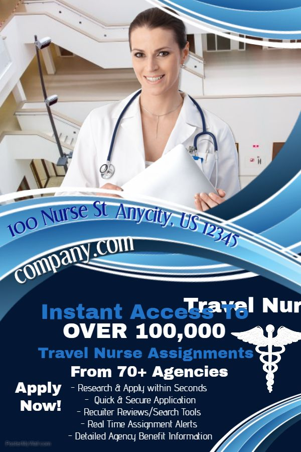 nurse hospital advertisement and job vacancy poster