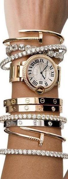 LOVE it  This is my dream cartier bracelet-cartier love bracelets!!- cartier ♥