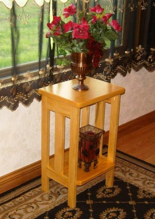 free wooden plant stand plans 2