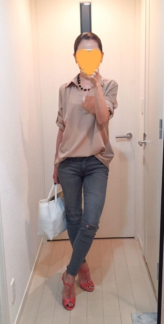 Shirt: Rakuten, Skinny: Mother, Bag: @la kagu, Sandals: Seven twelve thirty