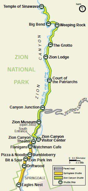 Der Zion National Park ist einer der beliebtesten …