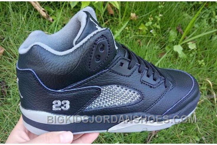 http://www.bigkidsjordanshoes.com/for-sale-kids-air-jordan-5-black-metallic-silver-2016.html FOR SALE KIDS AIR JORDAN 5 BLACK METALLIC SILVER 2016 Only $85.00 , Free Shipping!