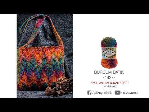 Alize Burcum Batik ile etkili çanta yapımı - An effective bag with Alize Burcum Batik - YouTube