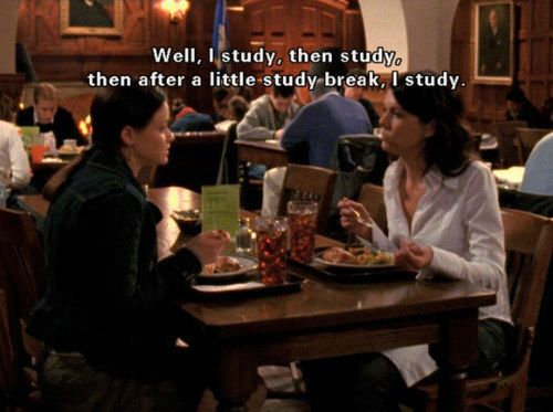Study hard, party never, and go home often.   The Unofficial Guide To College, According To Rory Gilmore