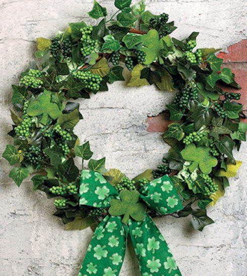 Like the ivy adding greenery for an irish wreath
