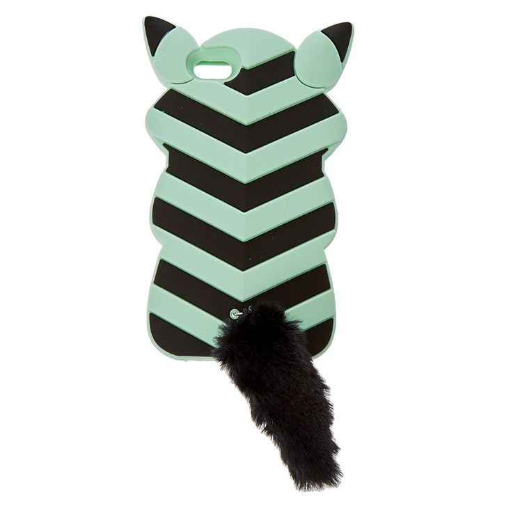 Mint and Black Fox Phone Case,