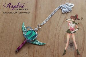 Sailor Jupiter Wand Pendant Inspired by Sailor Moon
