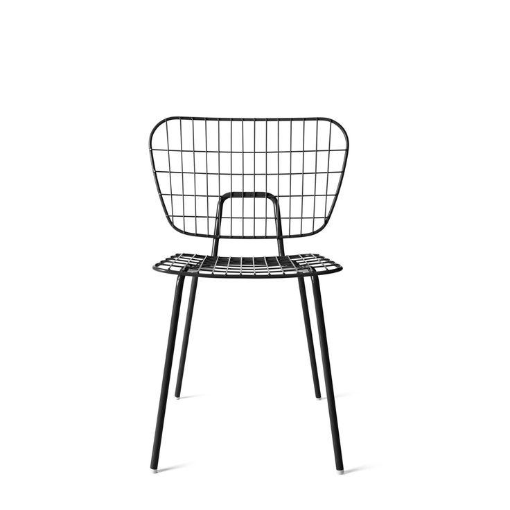 Menu - WM String Dining Chair, schwarz Schwarz T:50 H:80 B:53