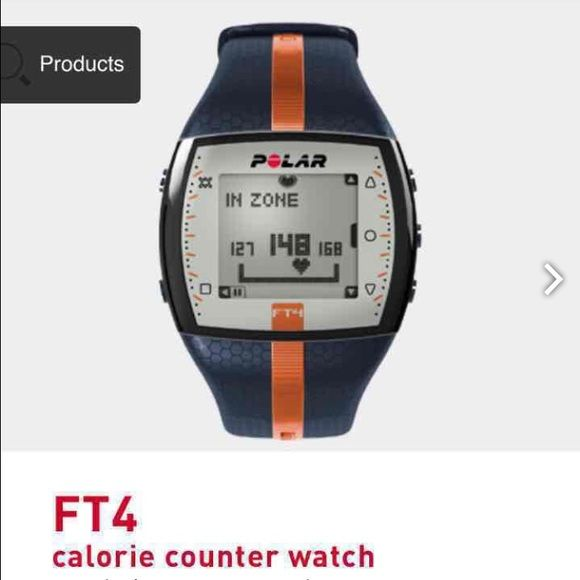 FT4 calorie counter watch FT4 calorie counter watch Heart rate monitoring for fitness and cross training For those who want to count the calories they burn and get basic heart rate-based features to keep their fitness training simple. New WITHOUT  box wristband and heart rate monitor! Accessories Watches