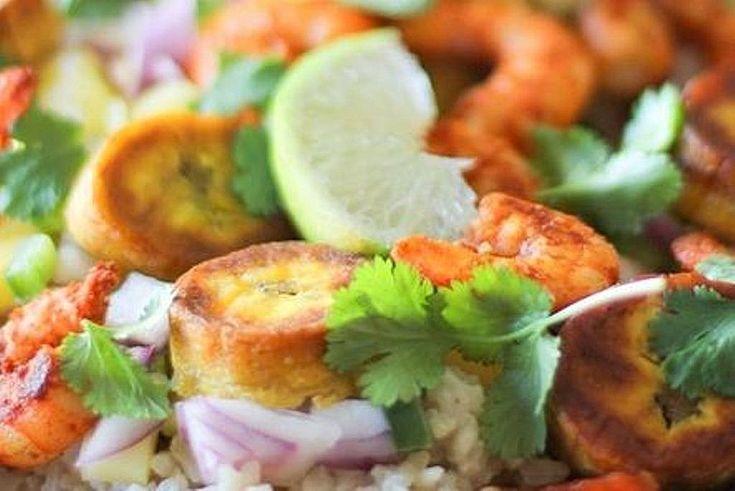 Kubanisch sautierte Garnelen mit Kokosnuss-Reis, Mangosalsa und gebratenen Kochbananen, ein sehr schönes Rezept aus der Kategorie Braten. Bewertungen: 3. Durchschnitt: Ø 3,8.