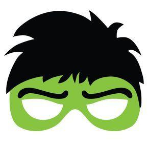 recortable de hulk para fiesta de superheroes