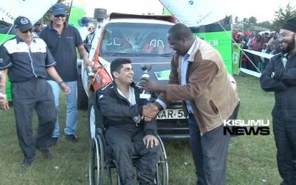 DISABLED RALLY DRIVER DEMYSTIFYING ODDS TO CHALLENGE IN KCB RALLY