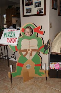 Ninja Turtle cardboard cut out. Someone needs to make for us. I would have no idea how to start.