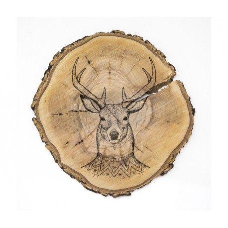Wood Slab Deer - Reallynicethings