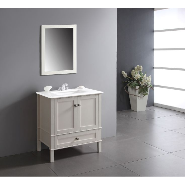 Windham Soft White 30-inch Bath Vanity with 2 Doors ...