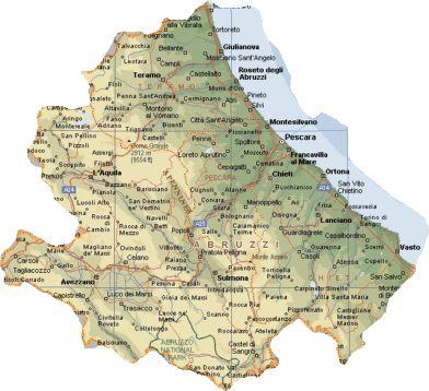 Abruzzo Mappa Cartina della Citta   Mappa Cartina Italia Geografica Regionale della Citta