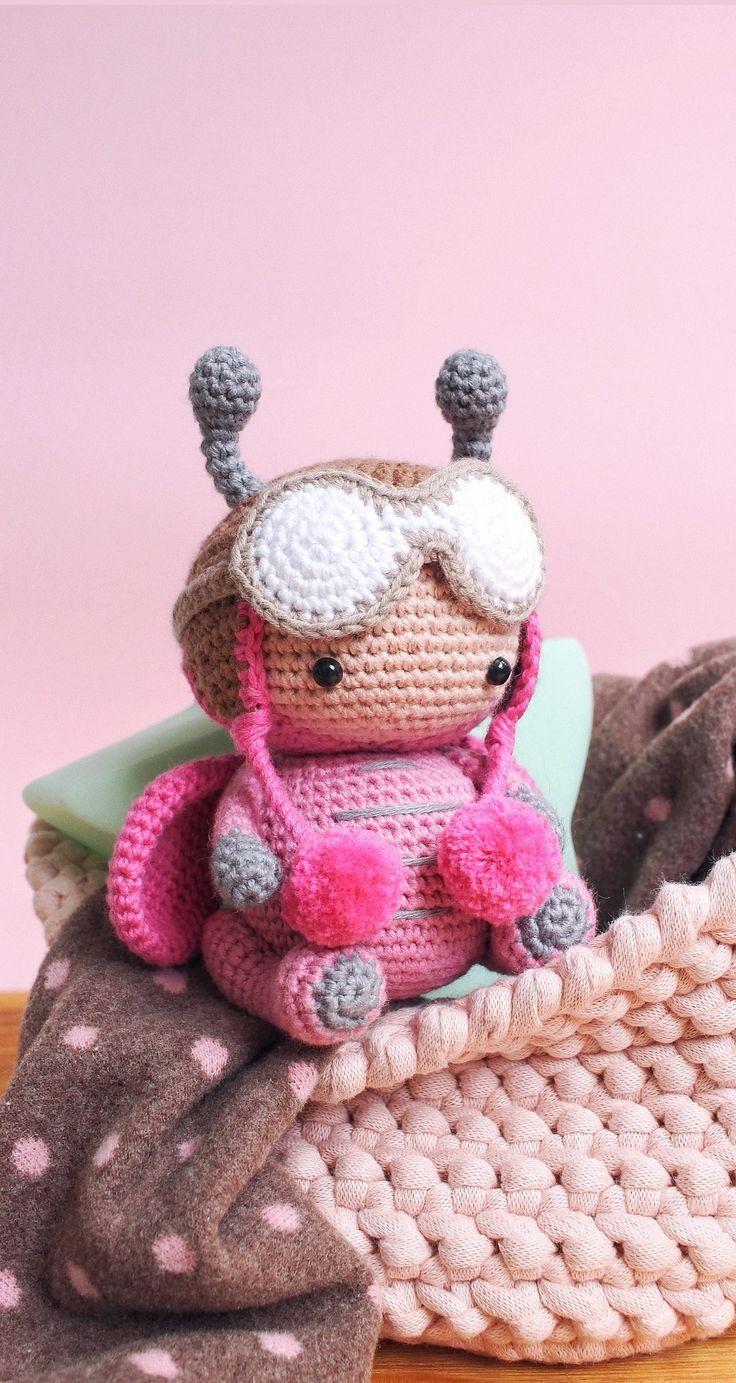 Ladybug doll. Amigurumi educational toy. Nursery decor. Ladybug gifts summer toy.
