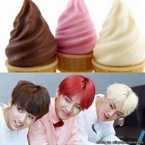 Who wants ice cream? XD ........ Me I want ice cream strawberry plz❤