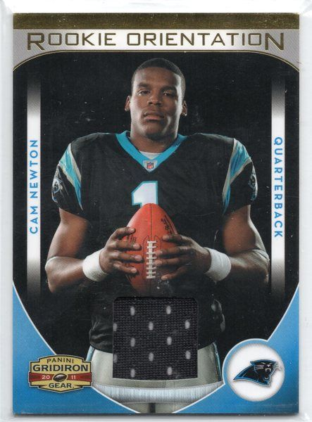 2011 Panini Gridiron Gear NFL Panthers Rookie Orientation Jerseys #30 - Cam Newton 227/299