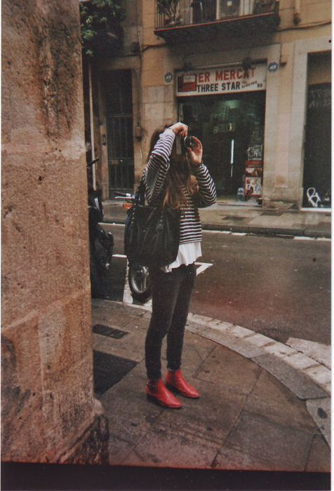 : Fashion Shoes, Red Boots, Red Shoes, Street Style, Travel Accessories, Outfit, Stripes, Chiffon Dresses, Redboot