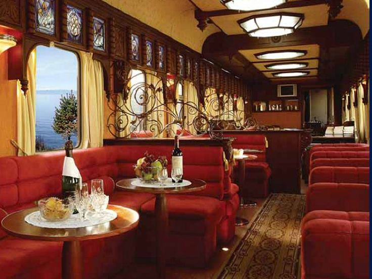 The train even has a lounge/bar car.